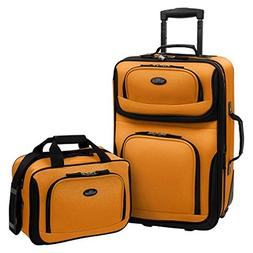 US Traveler Rio Two Piece Expandable Carry-On Luggage Set, O