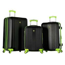 Olympia USA Apache II 3-Piece Hardcase Spinner Set Lime/Blac