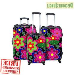 Heys USA Flowers Tempo 1 Piece Upright Spinner Luggage set D