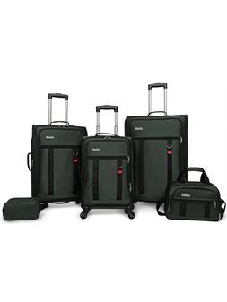 Coleman Utility 5 Piece Spinner Luggage Set, Green