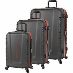 Nautica Vernon Bay Grey Orange 3 Piece Expandable Spinner Lu