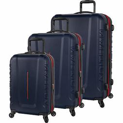 Nautica Vernon Bay Navy Red 3 Piece Expandable Spinner Lugga