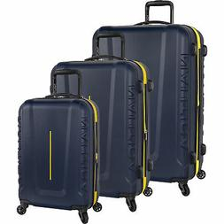 Nautica Vernon Bay Navy Yellow 3 Piece Expandable Spinner Lu