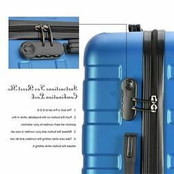 Resena Vertical Stripes 3 Pieces Blue Luggage Sets with Spin
