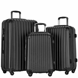 Resena Vertical Stripes 3 Pieces Luggage Sets with Spinner W