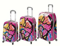 Vision Polycarbonate/Abs Luggage Set Multi 3 Piece