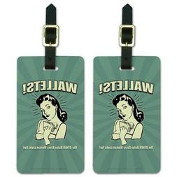 Wallets Other Bulge Woman Looks For Luggage ID Tags Cards Se