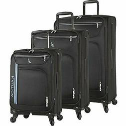 Nautica Washboard 3 Piece Expandable Spinner Set, True Black