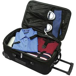 Wheeled Travelling Chest Three Pieces Rolling Luggage Set wi
