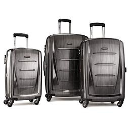 SAMSONITE WINFIELD 2 FASHION 3 PIECE SPINNER SET Charcoal 56
