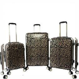 BeBe Women's Annabelle 3 Piece Set Suitcase with Spinner Whe
