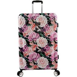 "BEBE Women's Luggage Marie 29"" Hardside Check in Spinner, Bl"