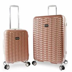 BEBE Women's Lydia 2 Piece Set Suitcase with Spinner Wheels,