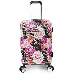 "BEBE Women's Marie 21"" Hardside Carry-on Spinner Luggage, Bl"