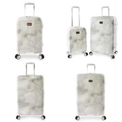 Womens Lilah 2 Piece Set Suitcase with Spinner Wheels Silver