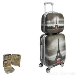 World Traveler Destination Collection 2-Piece Carry-on Hards