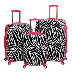 American Green Travel Zebra 3-Piece TSA-Lock Hardside Luggag